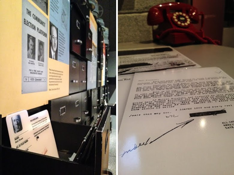 Only in Arkansas - Clinton Library Spy Exhibit - Collage Two