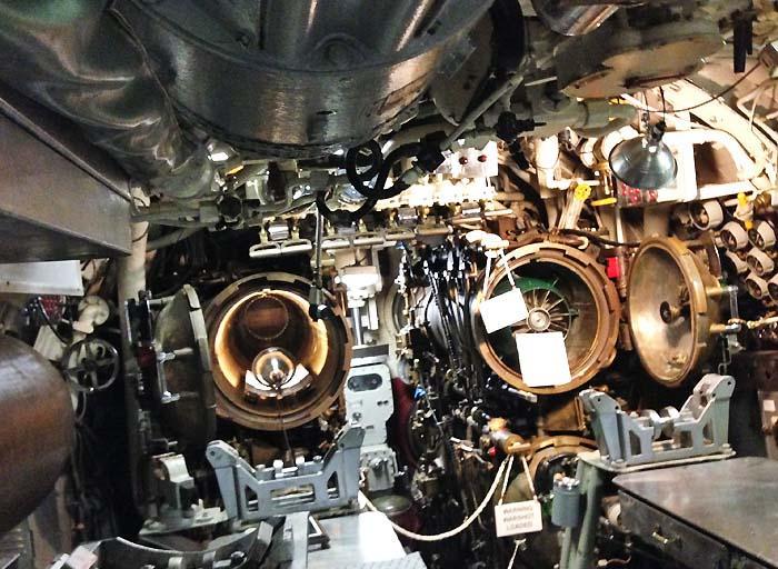 USS Razorback Submarine Torpedo Room