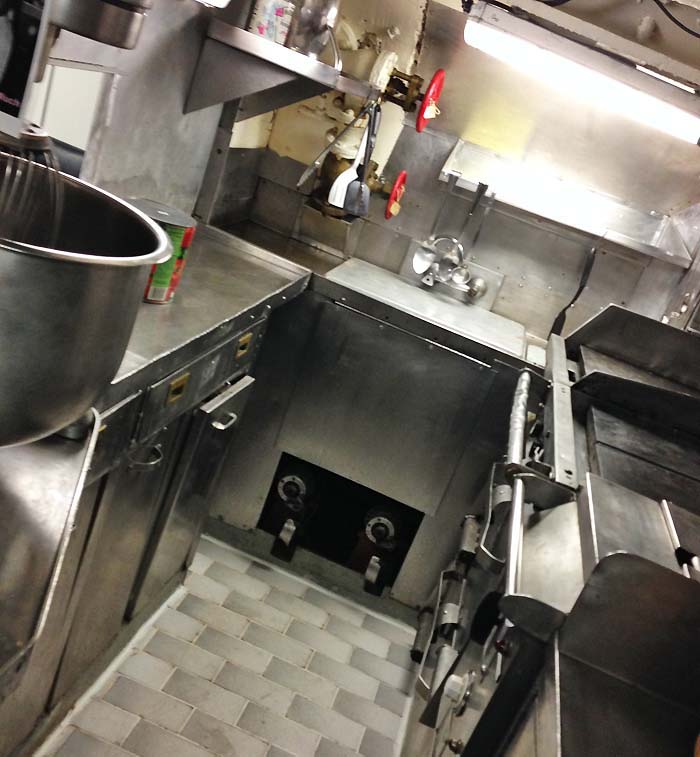 USS Razorback Submarine kitchen