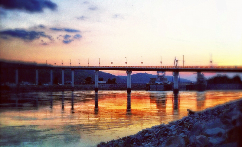 Sunset at The Big Dam Bridge - Little Rock Bridges - Only In Arkansas