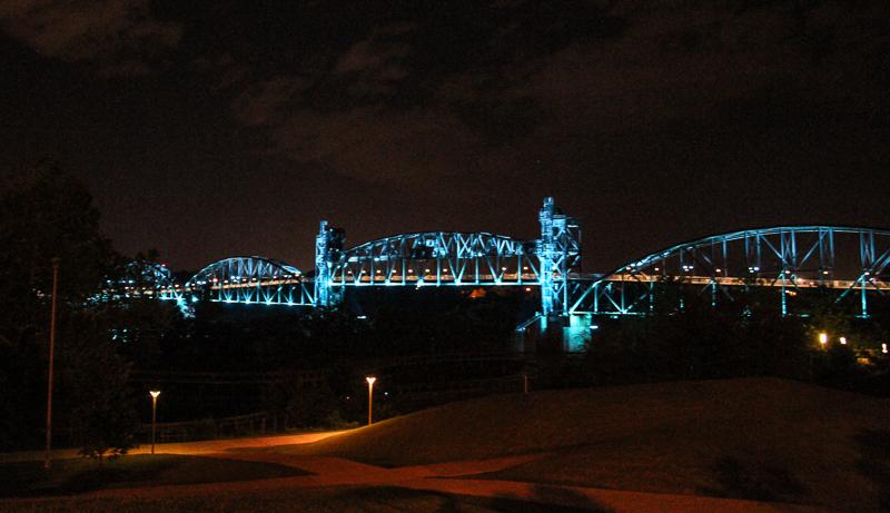 Nighttime - Little Rock Bridges - Only In Arkansas