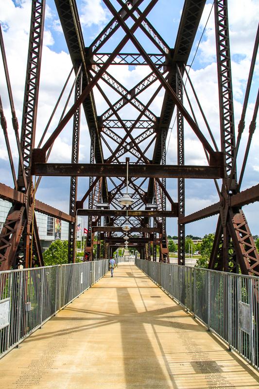 Clinton Presidential Park Bridge - Little Rock Bridges - Only In Arkansas