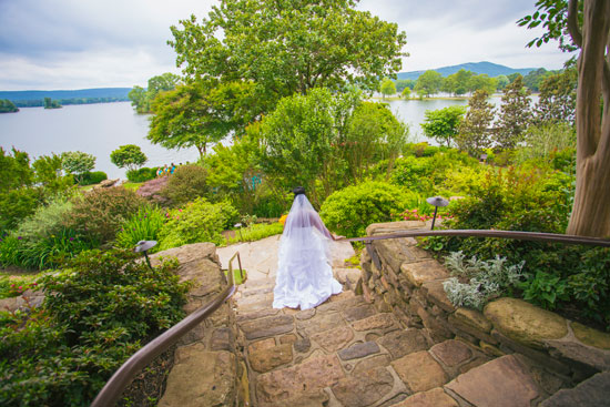 Lookout Point Lakeside Inn Hot Springs Staircase - Arkansas Weddings