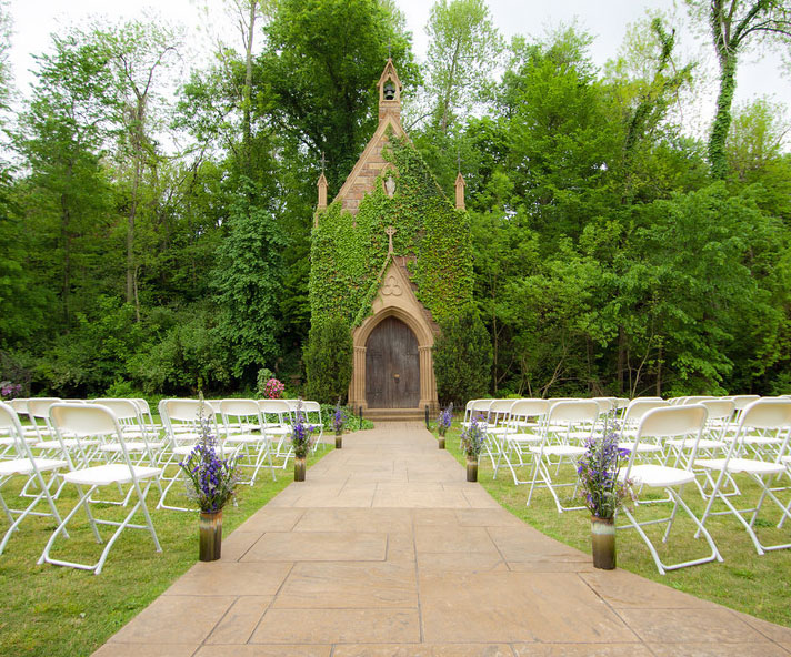 St. Catherine's at Bell Gable - Ivy Covered Chapel - Arkansas Weddings