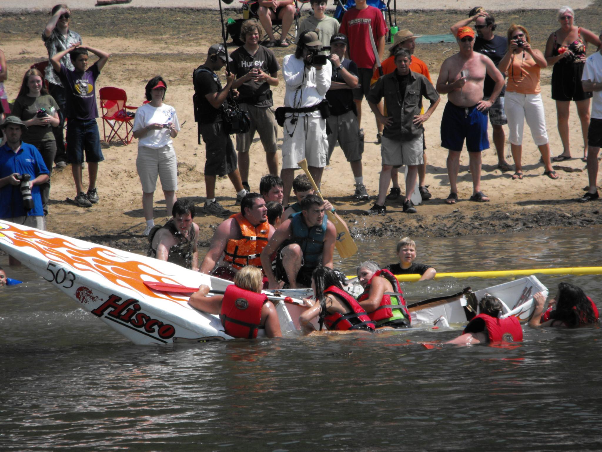 Cardboard Boat Race Wipeout