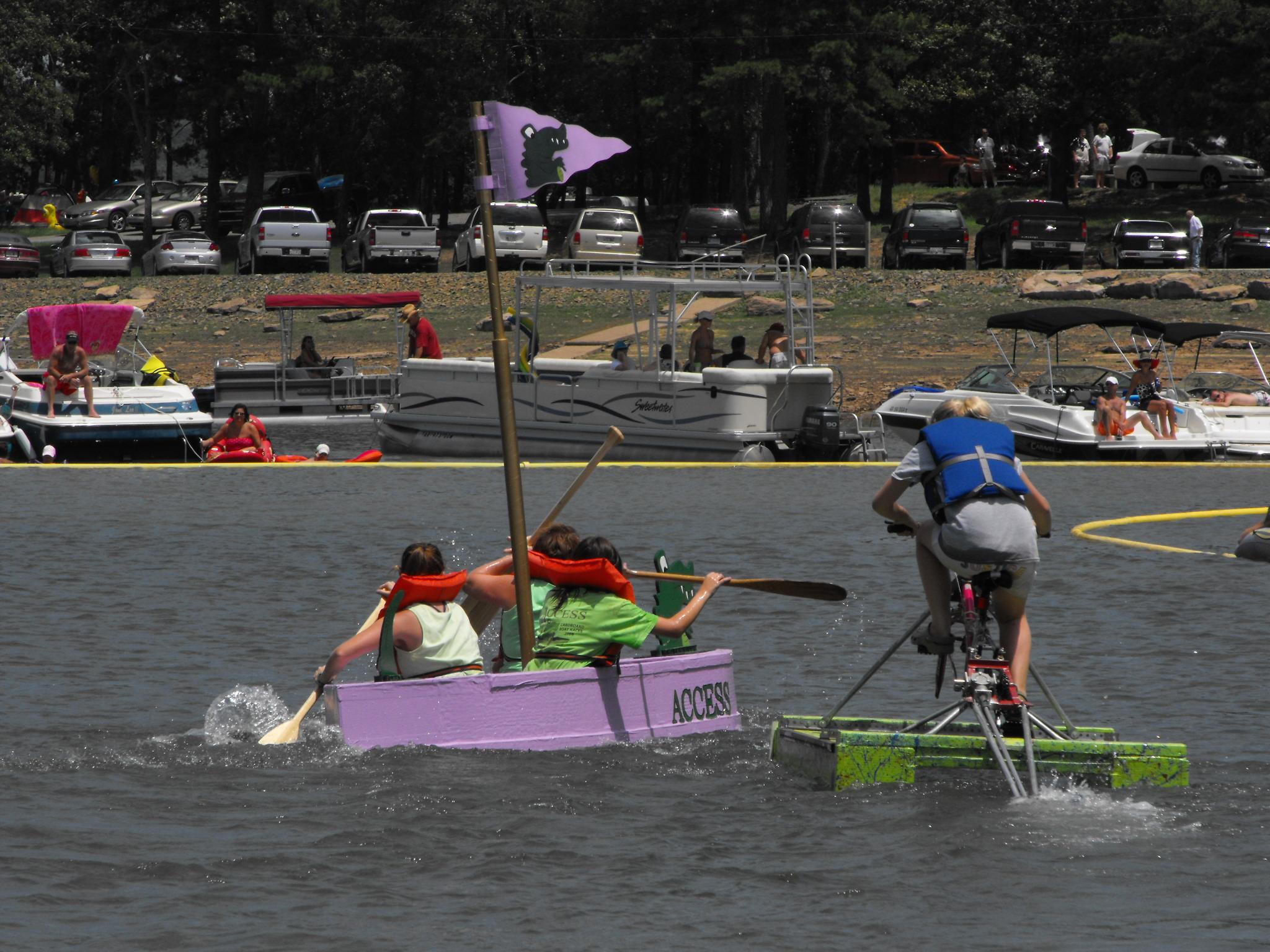 Battle on Greers Ferry Lake Cardboard Boat Race