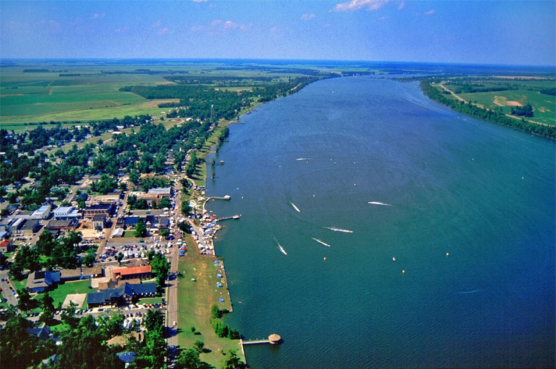 Lake Chicot from above