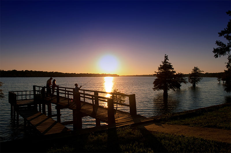 Sunset at Lake Chicot State Park
