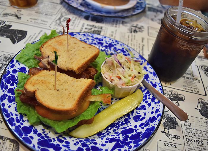 Eating at the Bean Palace Restaurant