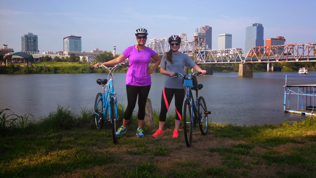 bike trail with friends, Trail of Two Cities