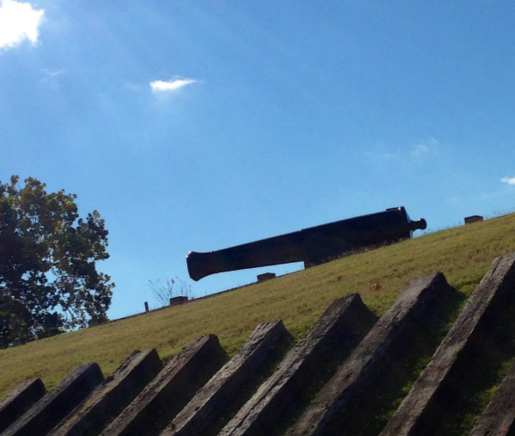 fort curtis header cannons