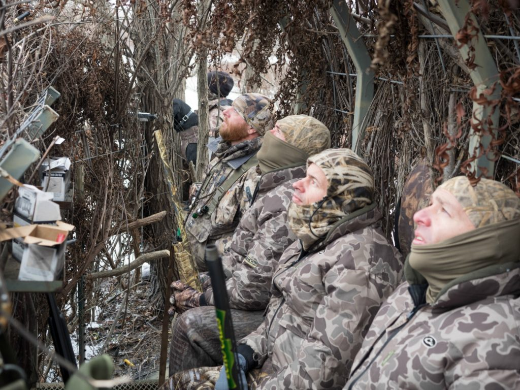 Operation Wounded Warrior Support - group in duck blind
