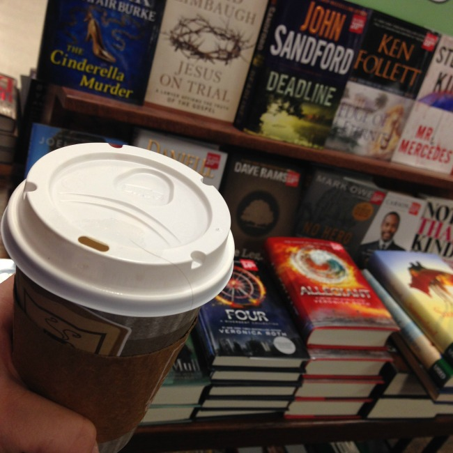 Coffee and Books at hastings