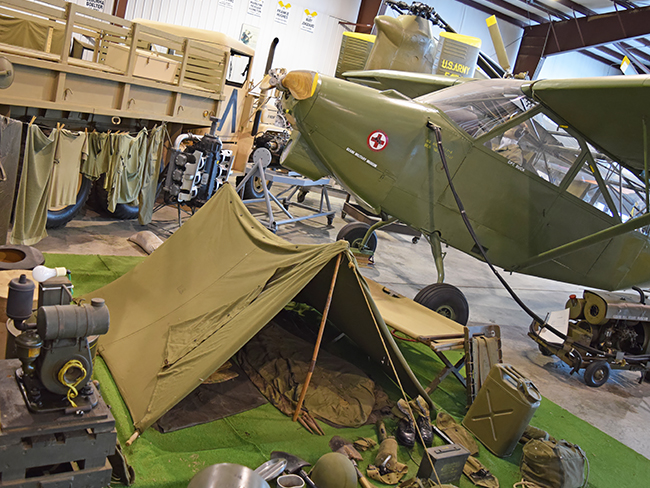 Camp set up in air and military museum