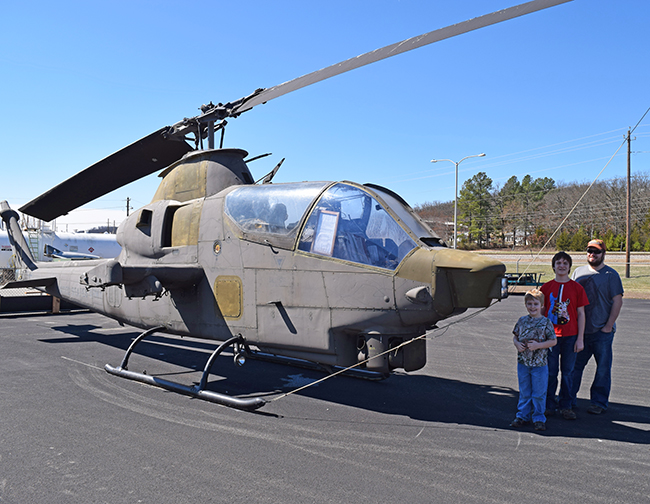 Exploring the helicopters at Arkansas Air and Military Museum