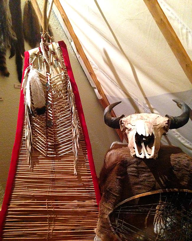 buffalo skull and ceremonial dress