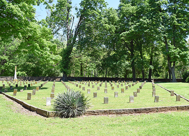 Arkansas Graves at Confederate Cemetery