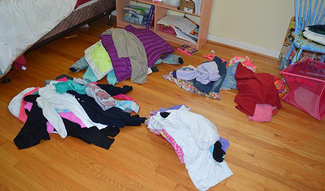 Ogranize Piles on Floor