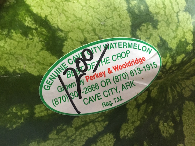 cave city watermelon sticker