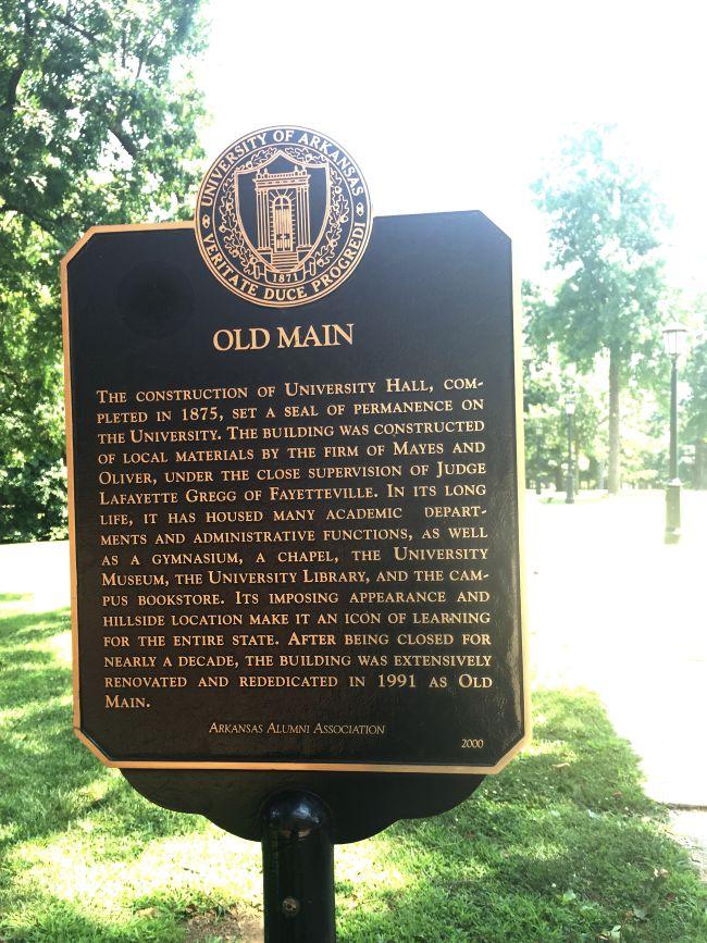 Old Main, UofA, Historical Sign
