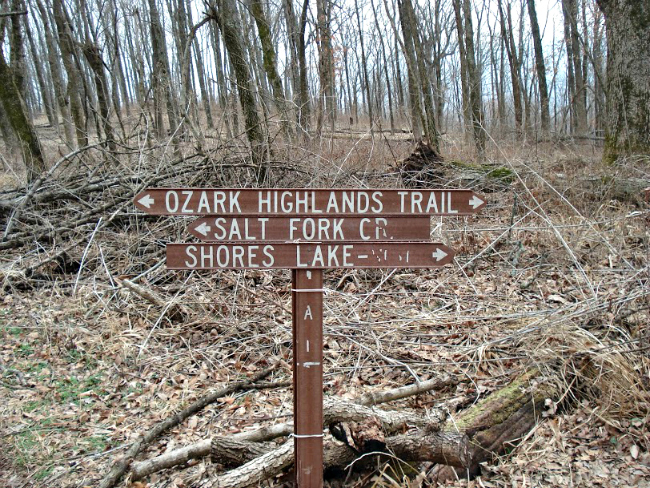Ozark Highlands Trail Sign