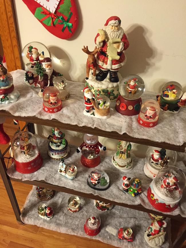 Santa Lady Snow Globes