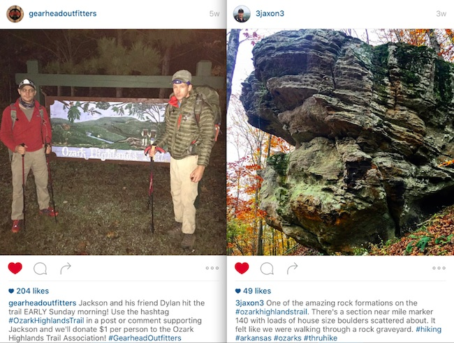 instagram posts jackson spencer gearhead outfitters ozark highlands trail