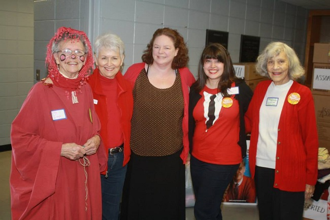 Ginny Evans, Joan Kennedy of Salvation Army, Ruth Hyatt of AR State Library, Katie Kulpepper of AETN, Marjorie Malachar of Bainum Library