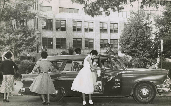 Little Rock Nine Arrive School