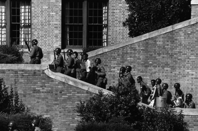 101st Airborne Escort the Little Rock Nine