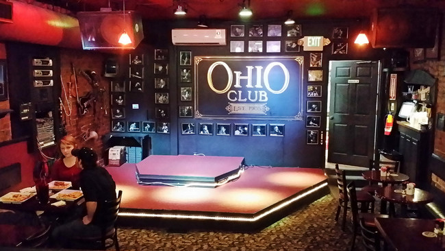 9 Hot Springs Ohio Club by Grav Weldon Upstairs Stage