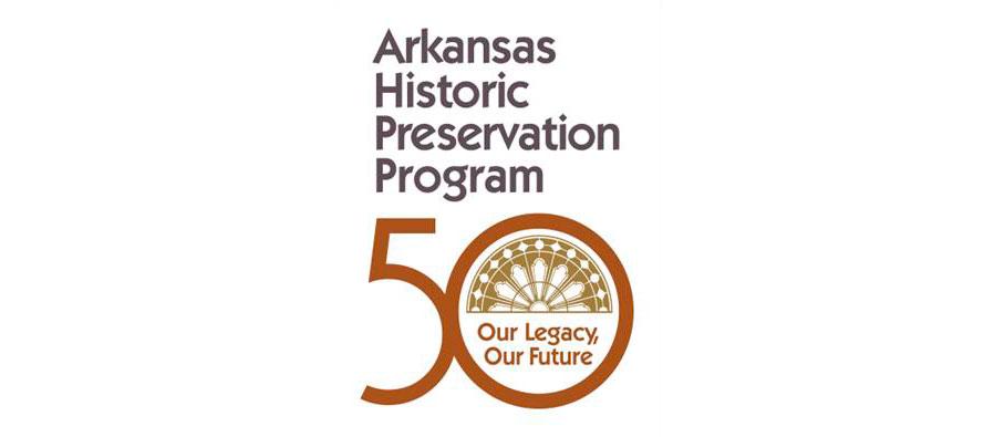 Arkansas-Historic-Preservation-50-Years-Logo