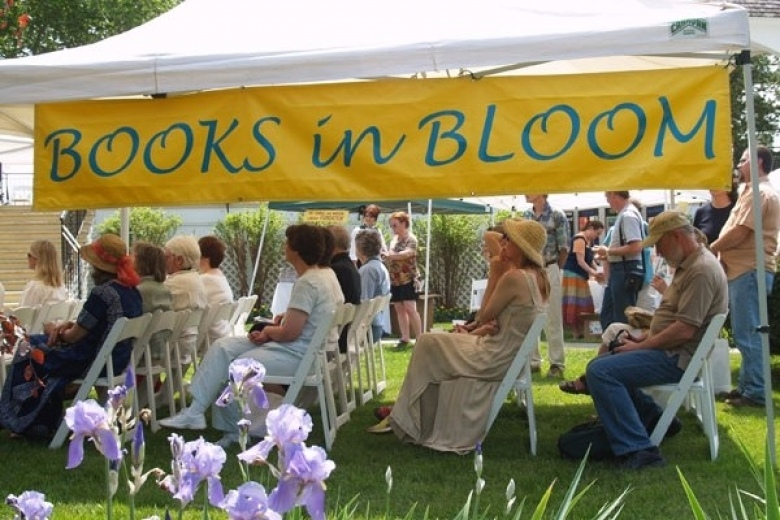 Books in Bloom author tent