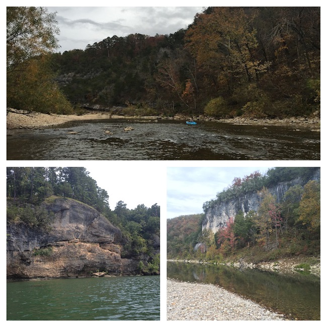 Buffalo National River Bluffs Trees and Banks