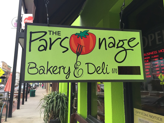 Parsonage sign