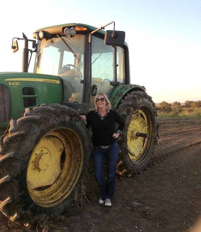 Talya Tate Boerner and tractor
