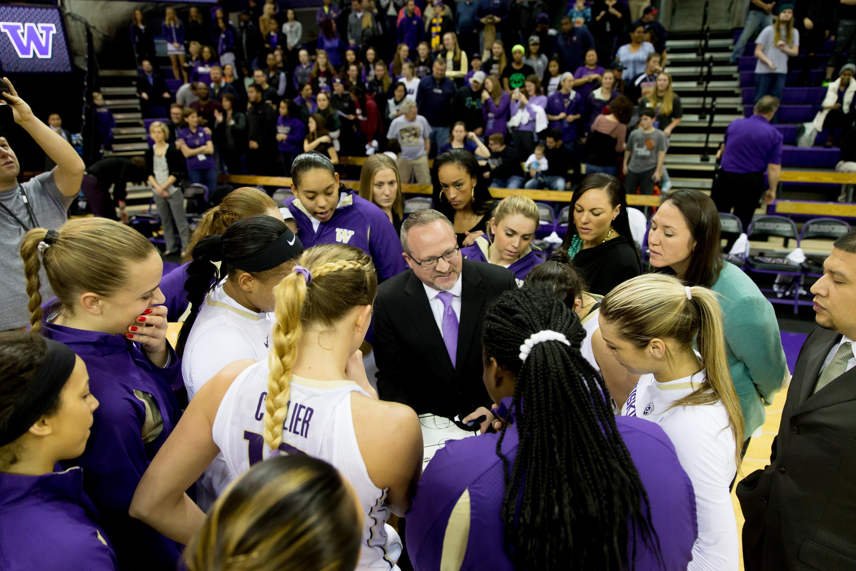 University of Washington women's basketball team plays Washington State University