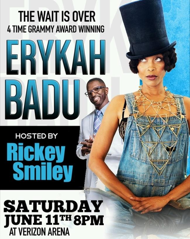 Erykah Badu and Rickey Smiley