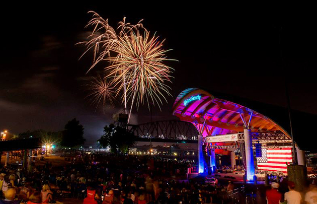 Fireworks First Security Amphitheater