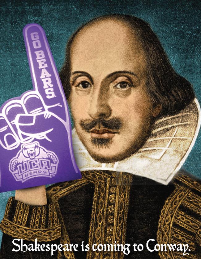 Shakespeare UCA Purple Bears Foam Finger First Folio Tour