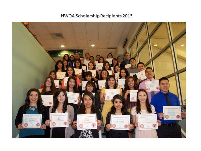HWOA Scholarship Recipients 2013