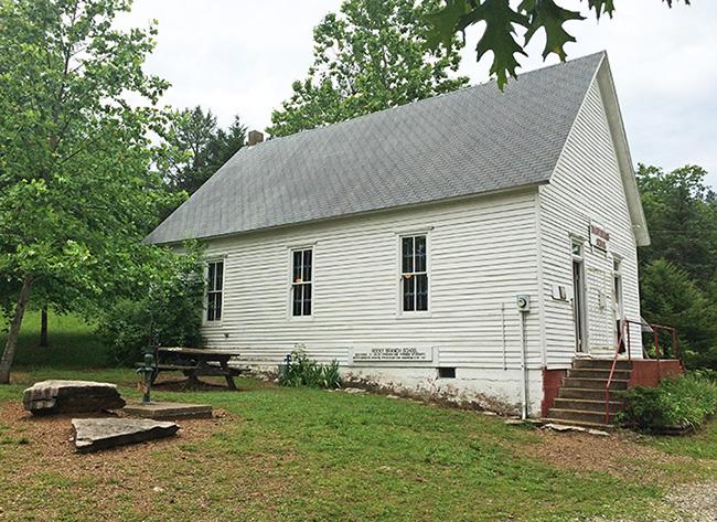 Rocky Branch Schoolhouse in Larue Arkansas