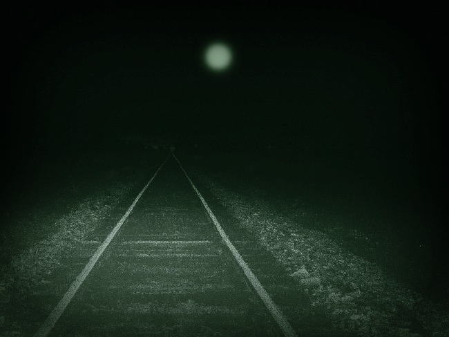 railroad-track-with-mysterios-light