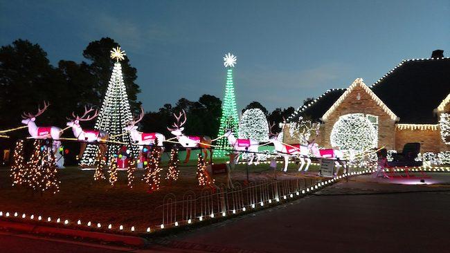 hodos christmas light show van buren
