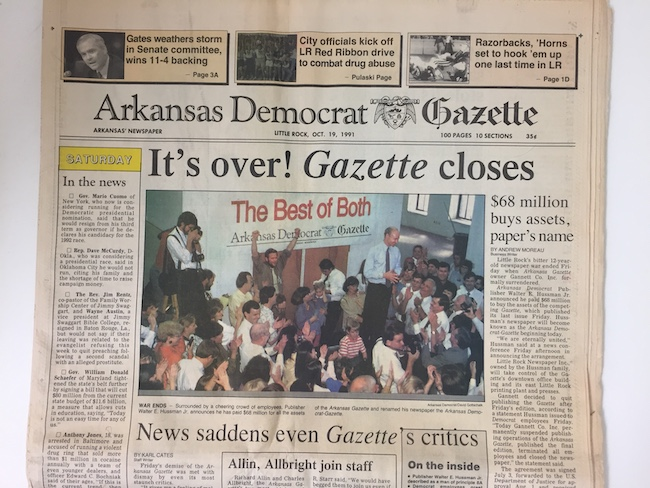 Dueling News: History of the Arkansas Democrat-Gazette