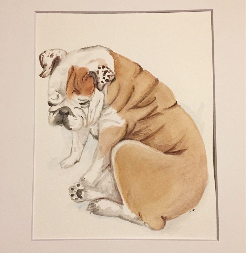 pet watercolor