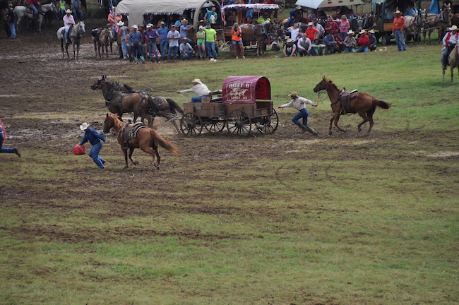 Chuckwagon Races in Clinton this weekend