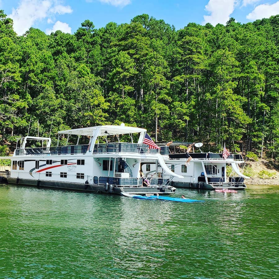 wake zone houseboat rentals arkansas