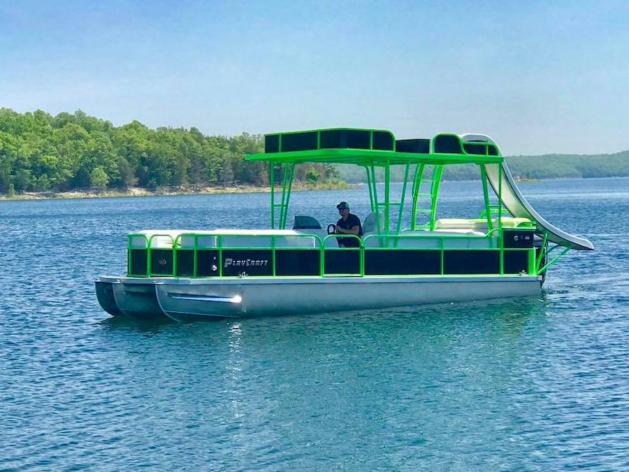 waterslide pontoon rental arkansas