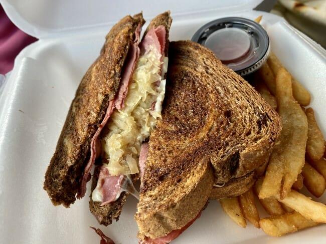 L'Attitude Bistro reuben sandwich in Clinton, Arkansas